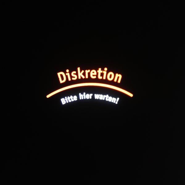 "Gobo ""Diskretion"" 50 mm"